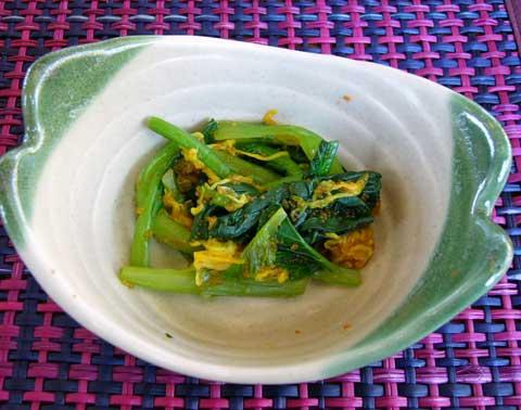 小松菜のとびっこ和え