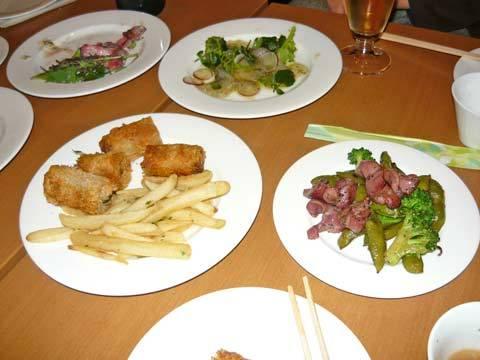 物産館 祝賀会の料理