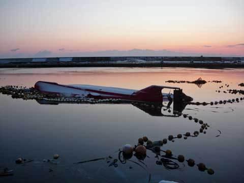 洋野町の津波後の海岸