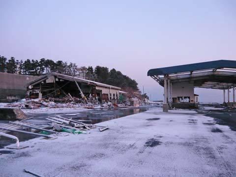 洋野町の津波の爪跡