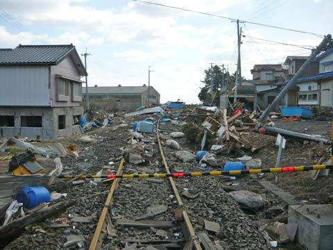 洋野町八木の津波の爪跡