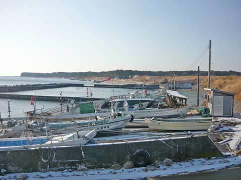 角の浜漁港の津波の爪跡