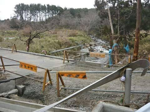 和座川の津波の爪跡