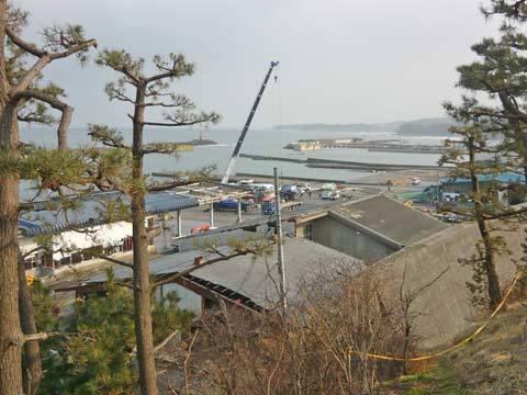 洋野町の復旧工事
