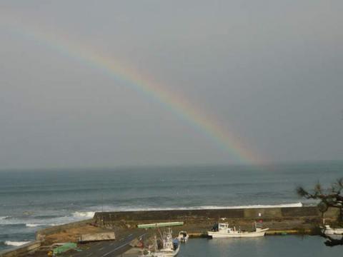 洋野町の虹