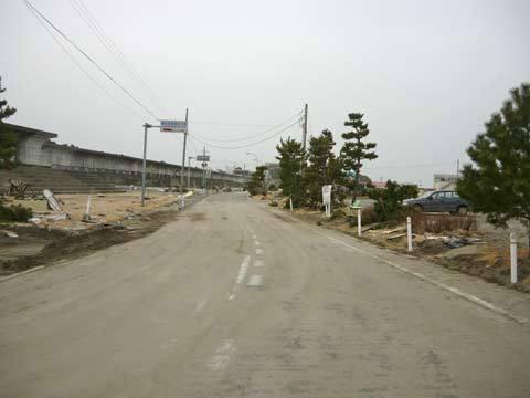 洋野町海浜公園の道路