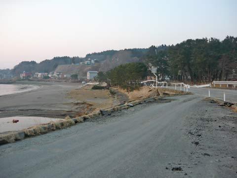 洋野町八木の道路