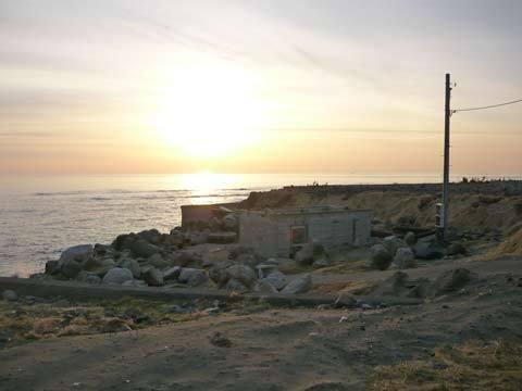 震災後の洋野町宿戸漁港