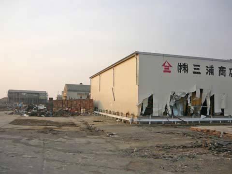 八木南港の震災の爪跡