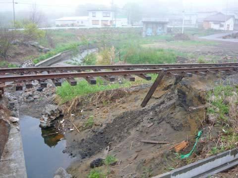 震災跡の八戸線