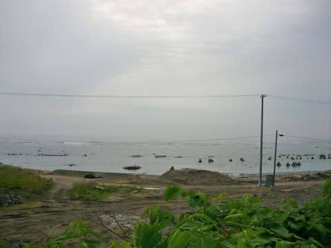 八木南漁港付近