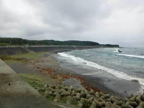 川尻の海岸