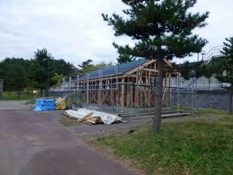 キャンプ場施設の復旧工事