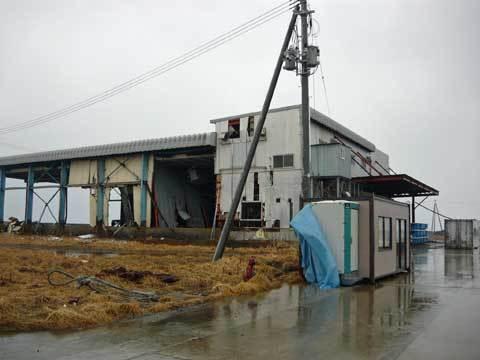 八木漁港の製氷施設