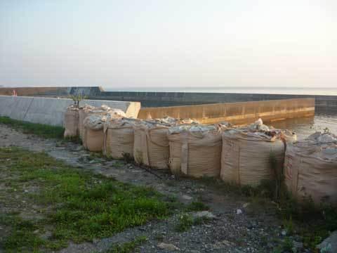 玉川海岸の堤防
