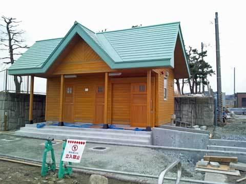 海浜公園のトイレ