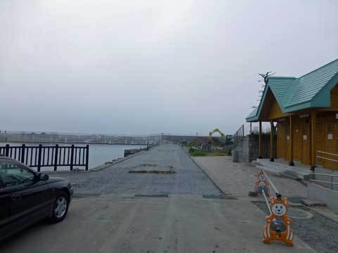 海浜公園の復旧工事