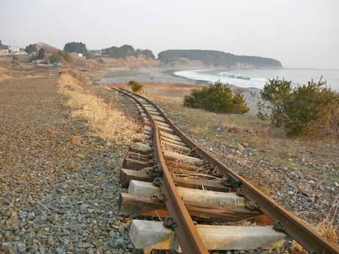 大浜海岸の震災の爪跡