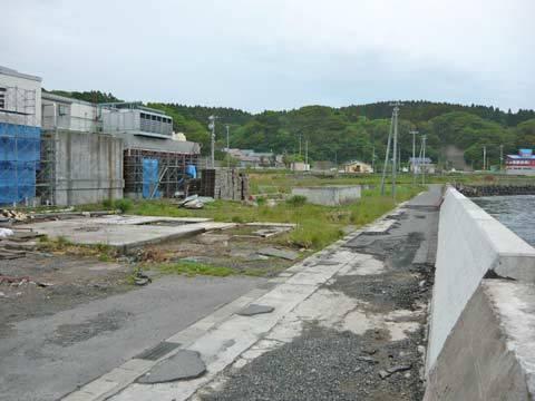 八木南漁協の建物跡