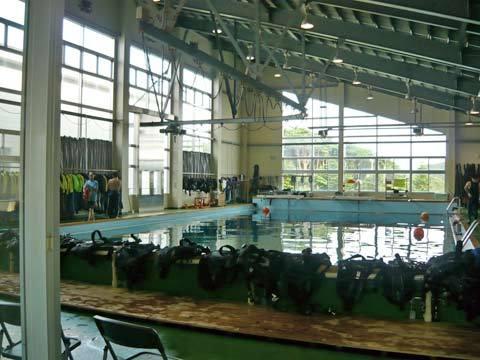 種市高校の潜水プール