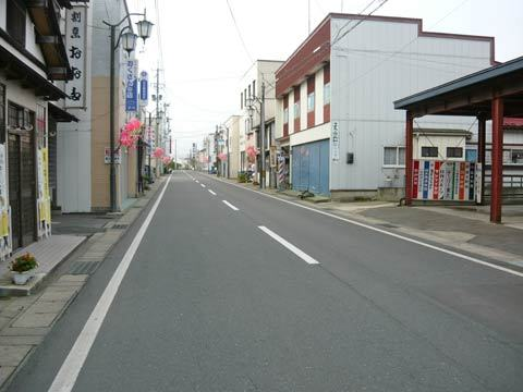 洋野町の大通り