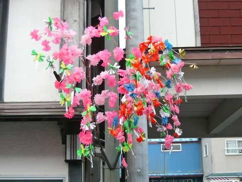 洋野町夏祭りに向けての飾り