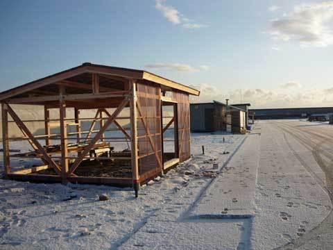 種市漁港の復旧工事