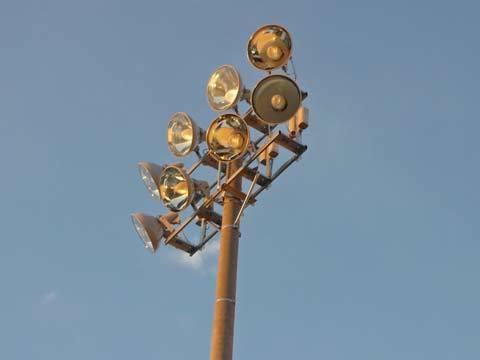 種市中学校の照明塔