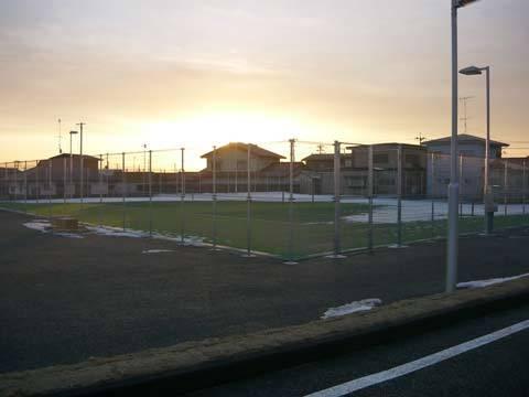 種市中学校のテニスコート