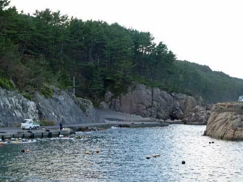 高家漁港の自然美