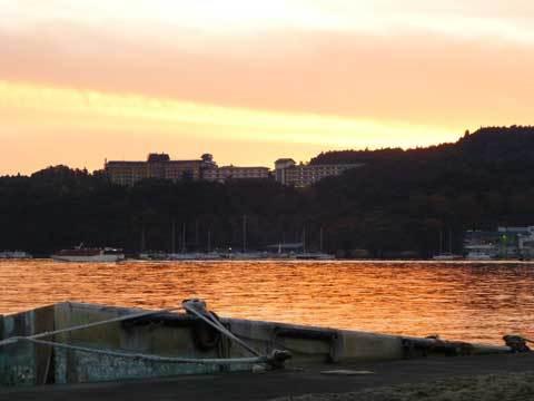 松島海岸の夕日