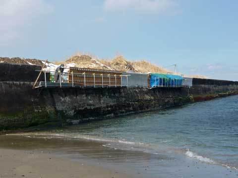 堤防の復旧工事