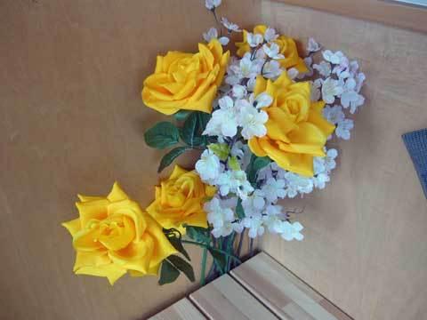 有家駅の花