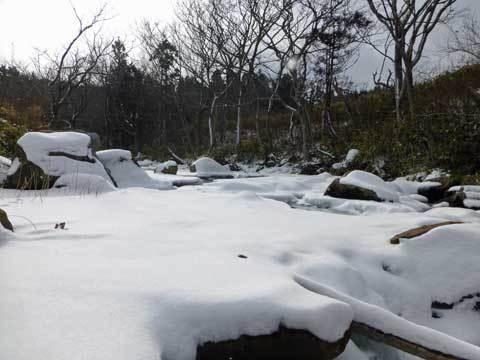 冬の和座川