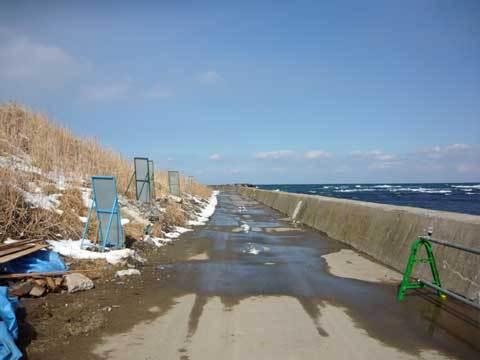 洋野町の海岸道路